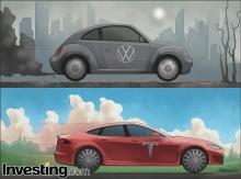 Yatırımcıların daha yeşil bir otomobil endüstrisini kutluyor olmaları sebebiyle Tesla...