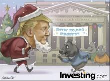 Ông già Noel Trump khiến cho Dow càng mạnh hơn với sự phục hồi 11% sau kỳ bầu cử