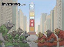 Bò và gấu đang tranh đấu để giành hướng đi khi năm 2017 vừa bắt đầu