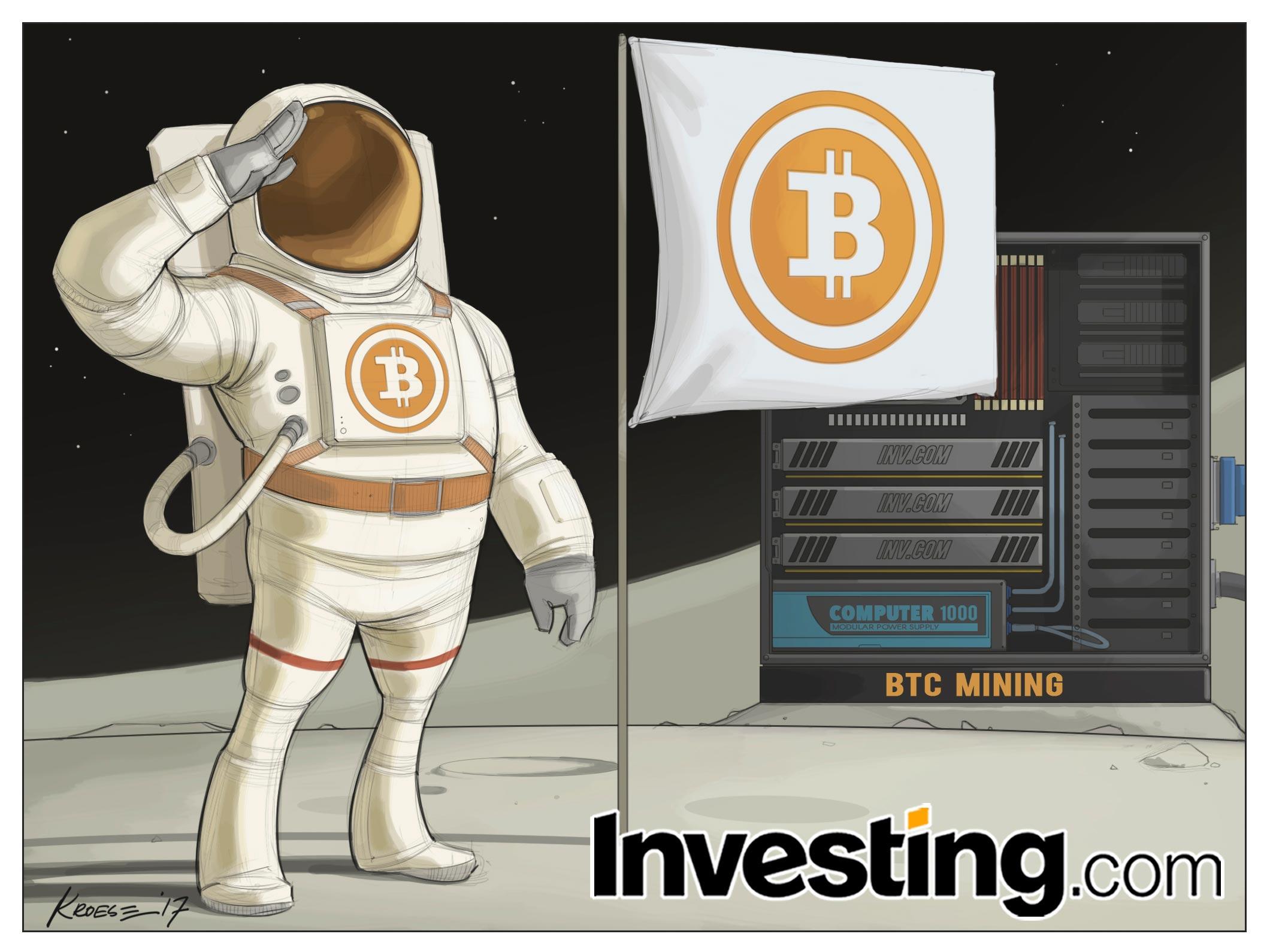 ビットコインは華々しい上昇が続き価格は月に届きそうだ