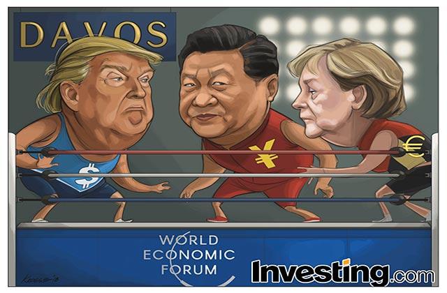 Trump'ın Davos'a Gitmesiyle Birlikte ABD, Ticaret Savaş Kaygılarını Ateşledi
