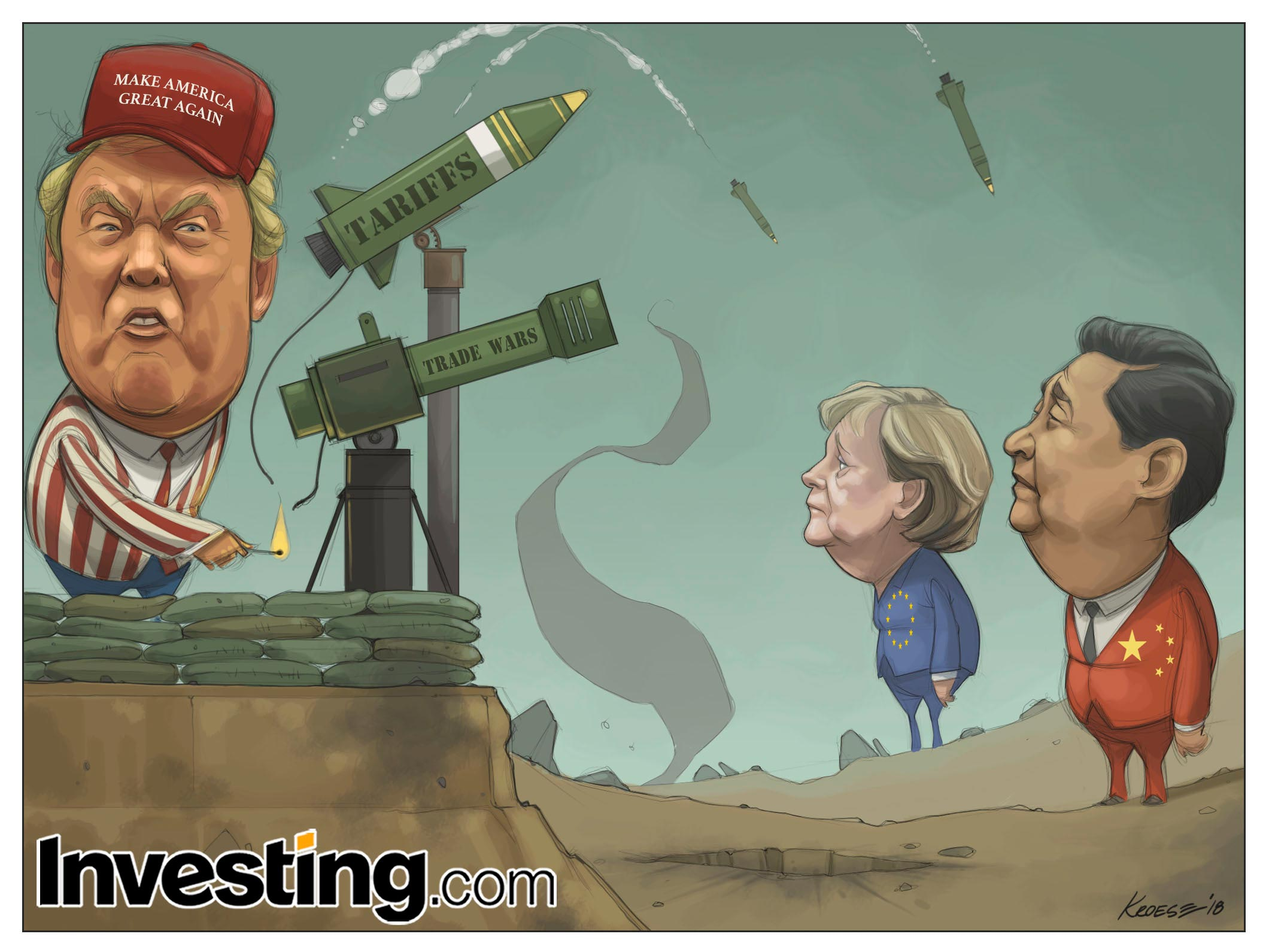 トランプ大統領の関税が世界貿易戦争の恐れに火をつける