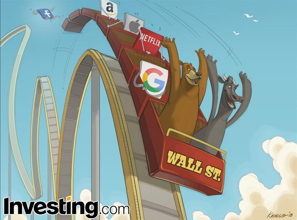ウォール街の愛する FAANG 株はテク株の大幅下落が拡大して大打撃
