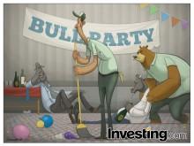 Ursos estão animados pois a festa dos touros parece estar chegando ao fim