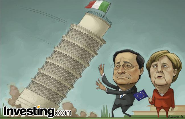投資家はイタリアのドラマについてやきもきして、ユーロ圏分裂の確立が上がっている