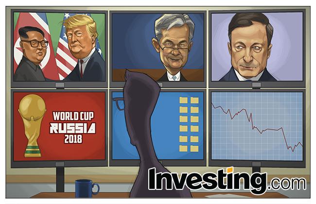 米朝首脳会談、FRB、欧州中銀にワールドカップ―何という一週間だったのでしょう