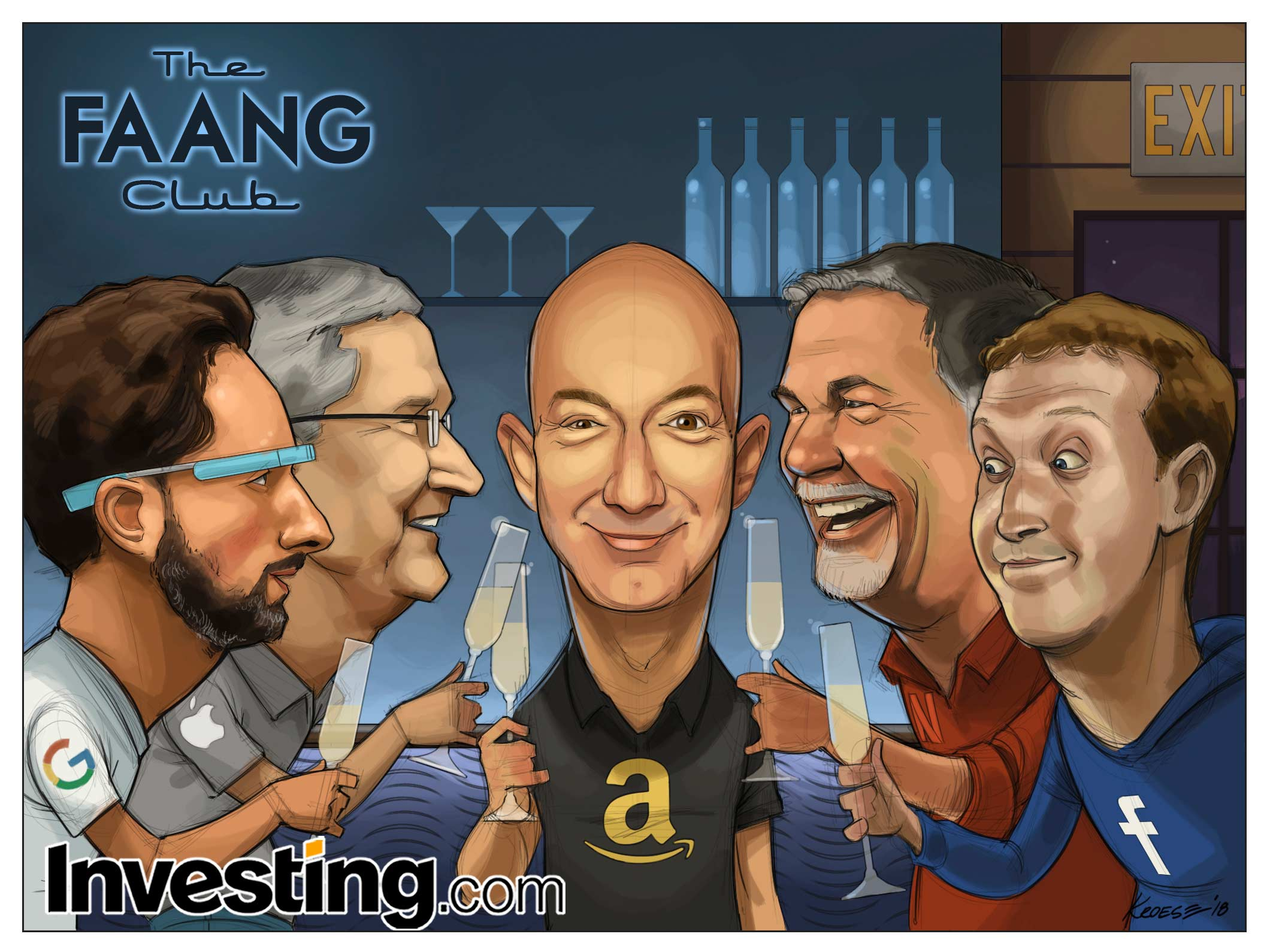 FAANG株は引き続き株式市場の上昇をリードする