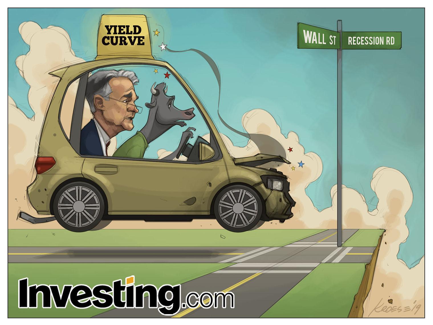 イールドカーブ逆転、パウエルは景気後退を恐れる