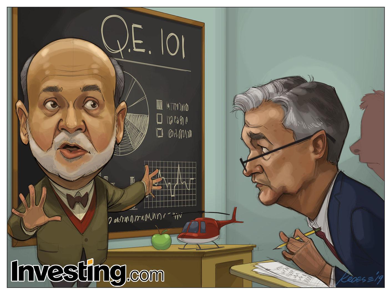 買い方はパウエルFRB議長がバーナンキ元議長を見習ってQE(量的緩和)を始めることを望んでいる