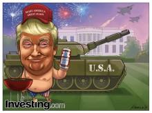 De VS viert Independence Day op Donald Trumps manier