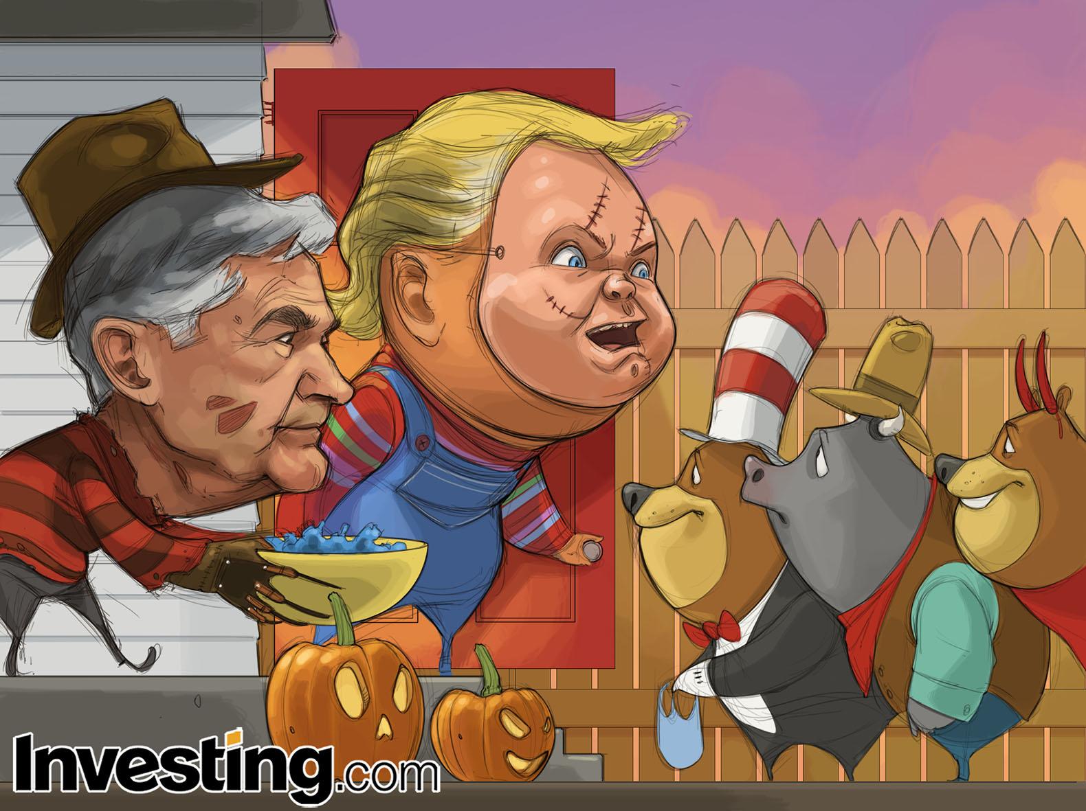 Powell ve Trump ABD'deki Cadılar Bayramı Kutlamalarıyla Birlikte Piyasaları Ürkütüyor