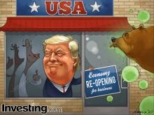 Nền kinh tế mở cửa trở lại giúp Phố Wall phấn chấn hơn; Trong khi đó Trump tìm cách vượt...