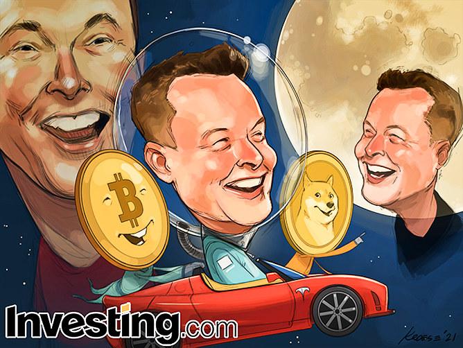 एलोन मस्क बिटकॉइन और डॉगकोइन की कीमतों को चाँद छुआते हैं