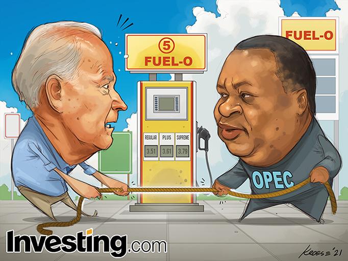Biden in discussie met de OPEC: hogere olieprijzen wakkeren inflatie aan