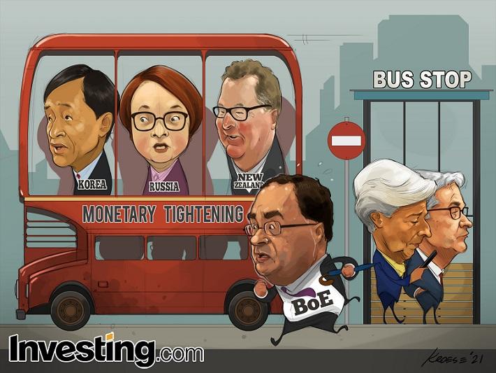 CHARGE: Todos a bordo do ônibus rumo às taxas mais altas! (Bem, quase todos)