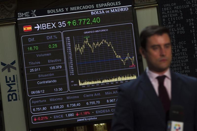 Рынок акций  Испании закрылся падением, IBEX 35 снизился на 0,72%