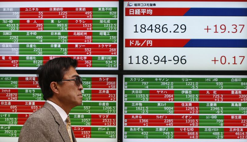 Japan stocks lower at close of trade; Nikkei 225 down 0.18%
