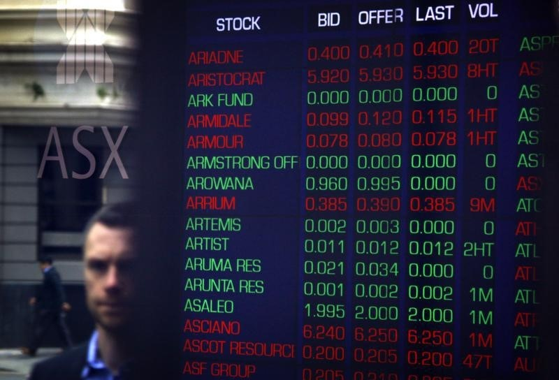 Australia stocks higher at close of trade; S&P/ASX 200 up 0.49%
