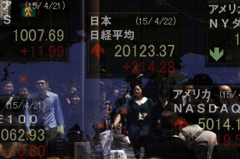 Asian Stocks Up, Investors Unwind Some Reflation Trades