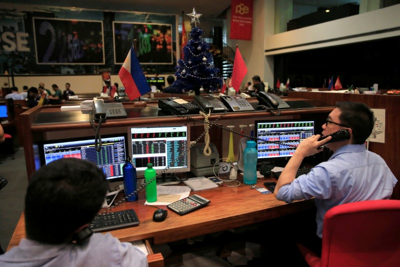 EMERGING MARKETS-Philippine stocks mark best day in 3 months; Asian currencies weaker