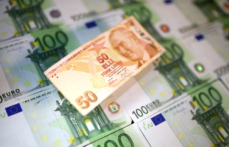 Euro giù, valute rifugio in salita per il tonfo della lira turca