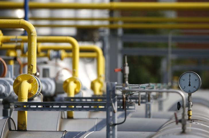Futures gas alam lebih rendah selama masa dagang Eropa