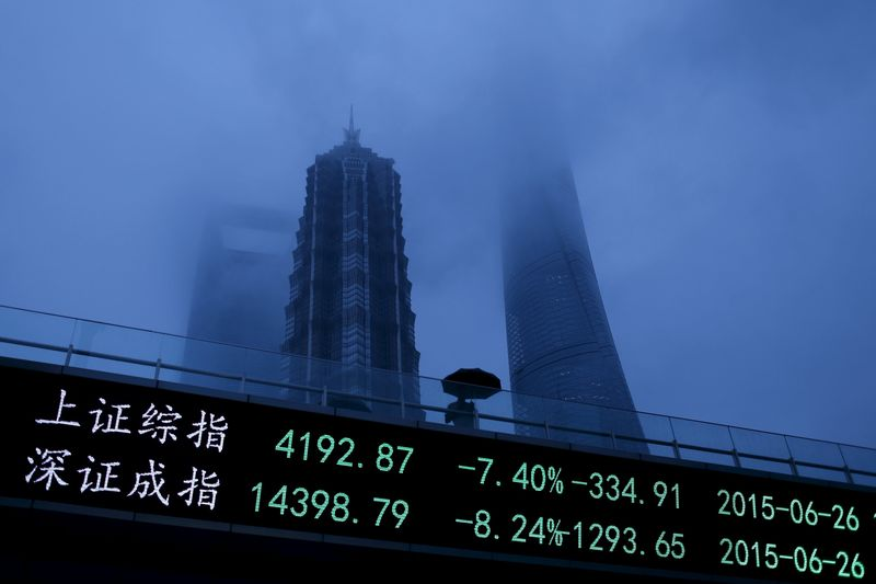 China - Ações fecharam o pregão em queda e o Índice Shanghai Composite recuou 2,55%