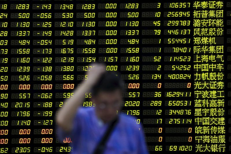 China shares lower at close of trade; Shanghai Composite unchanged