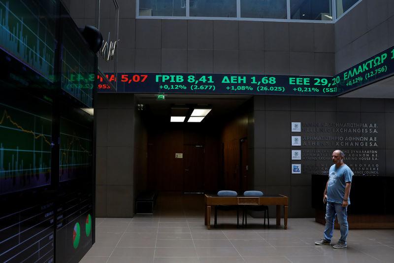 مؤشرات الأسهم في اليونان هبطت عند نهاية جلسة اليوم؛ Athens General Composite تراجع نحو 0.06%