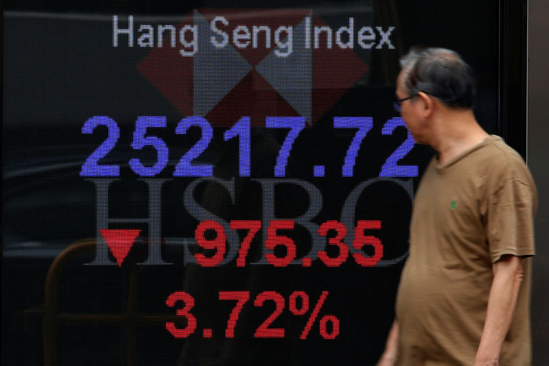 Hong Kong Stocks Sink as Property Fear Spreads Beyond Evergrande