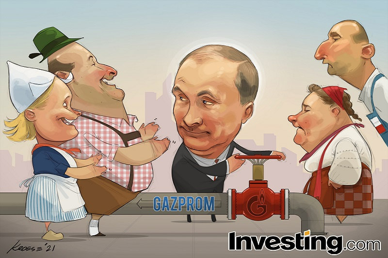 CHARGE: Gasoduto de Putin traz alívio ao mercado de gás da Europa