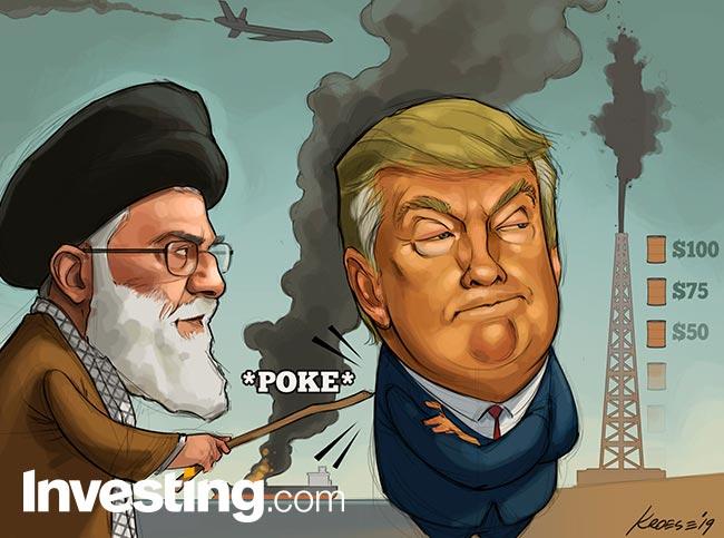 CHARGE: Trump mira líder supremo do Irã enquanto tensões continuam altas