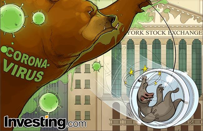 Comic: Stocks Plunge Into Bear Market As Coronavirus Ends Historic Bull Run
