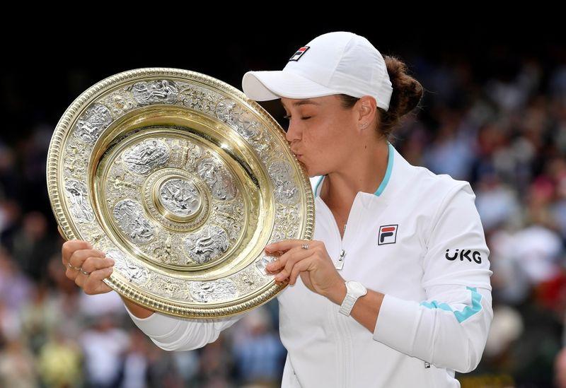 Tennis-Barty emulates idol Goolagong to claim first Wimbledon title