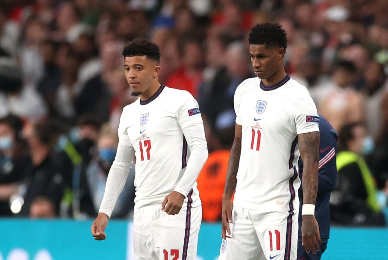 England's Black players face racial abuse after Euro 2020 defeat