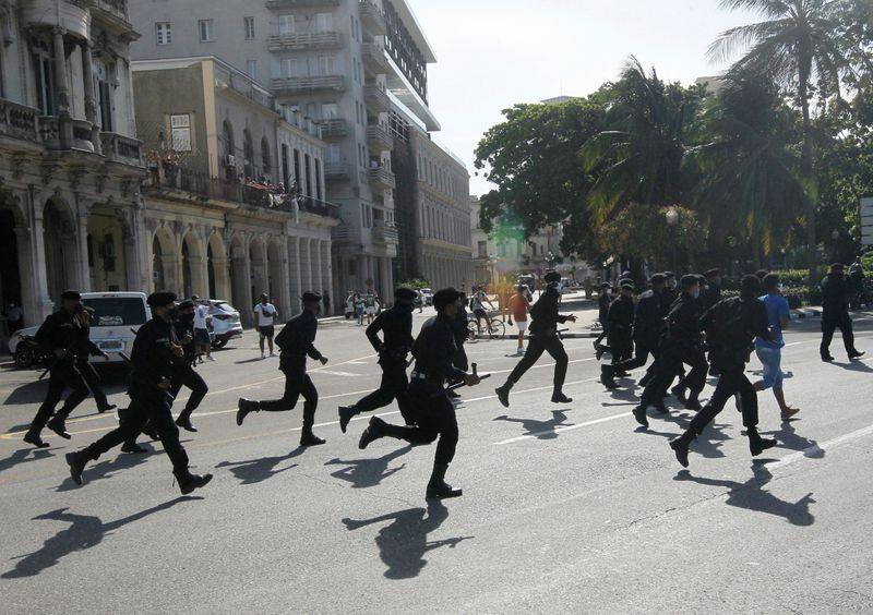 Faced with rare protests, Cuba curbs social media access, watchdog says