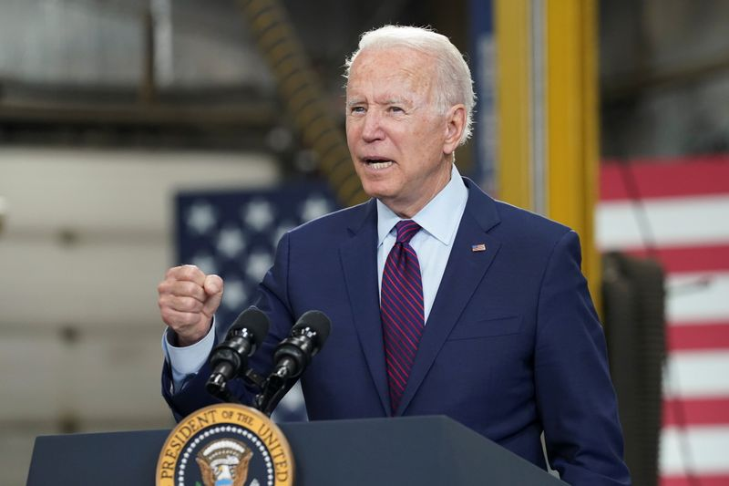 Biden backs $3.5 trln spending plan, Republicans blast massive package