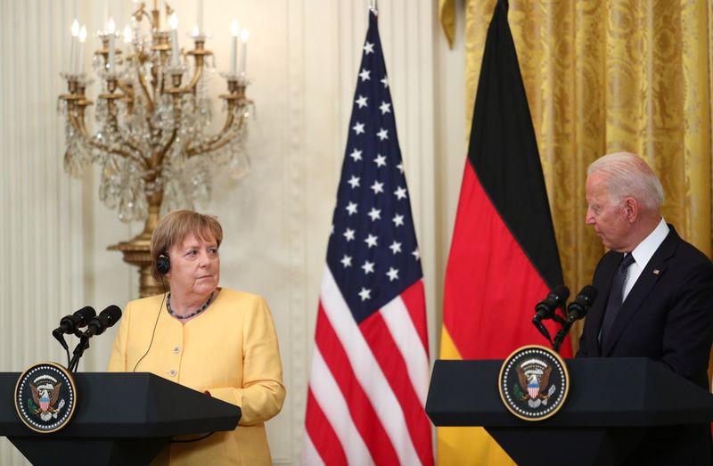 Biden e Merkel prometem frente comum para lidar com Rússia e China