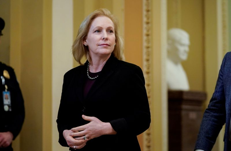 Biden supports Senate push on military justice overhaul, Gillibrand says