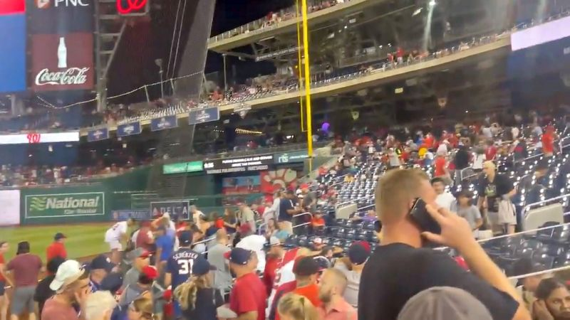 Baseball fans scramble after shooting outside Washington Nationals stadium