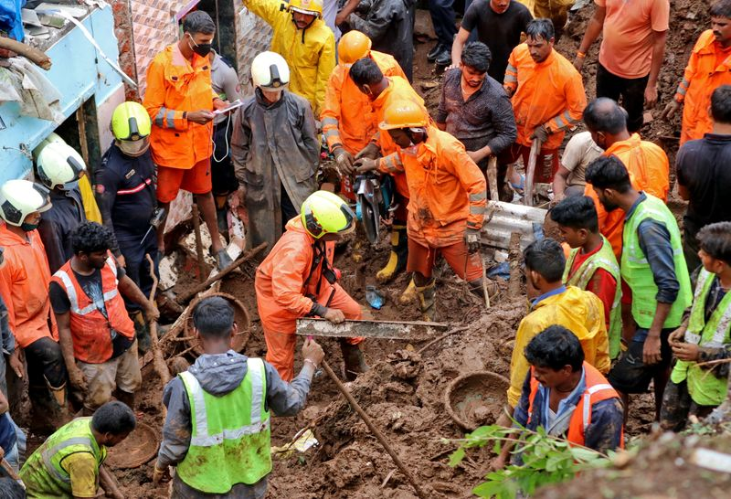 Landslides kill at least 15 in Mumbai after heavy rains