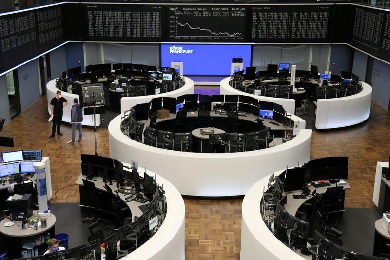Dovish ECB supports euro zone stocks, banks under pressure