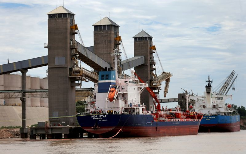 Exclusive-Historic low river levels force Argentine grains ships to cut cargoes by 25%, ports chamber says