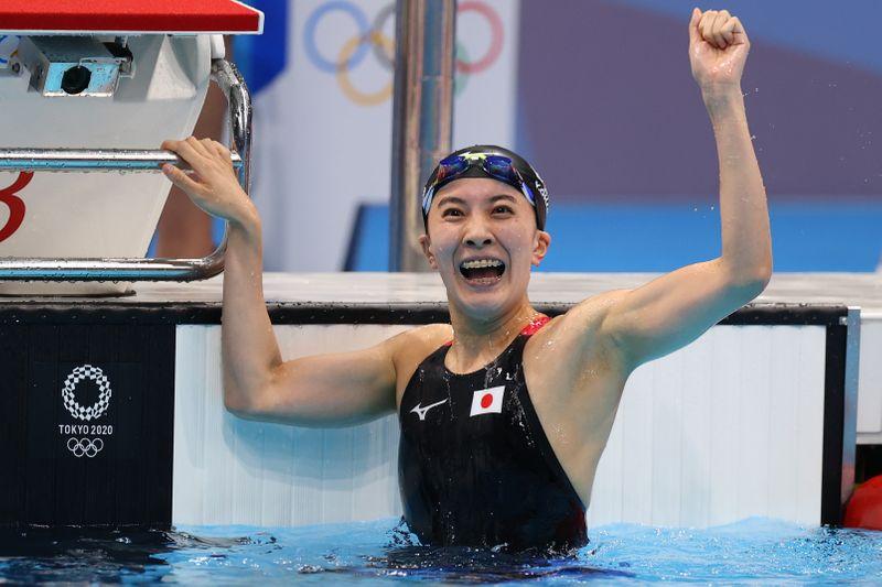 五輪=競泳女子の大橋悠衣が金メダル、貧血や重圧を克服