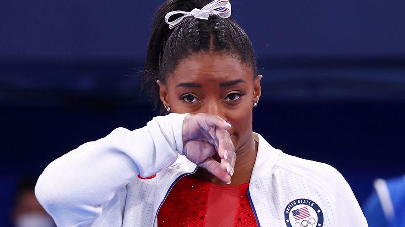 五輪=米体操女子バイルス、団体総合決勝を途中棄権 精神的理由で