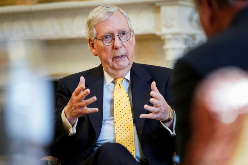 McConnell strives to counter 'bad advice' to boost U.S. Republican vaccination rate