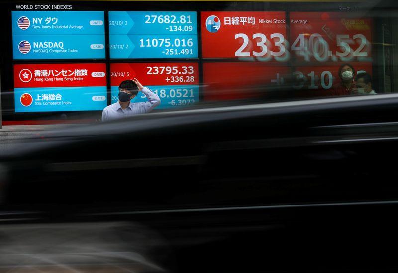 Wall Street roars to record peak on rosy earnings, dollar wilts