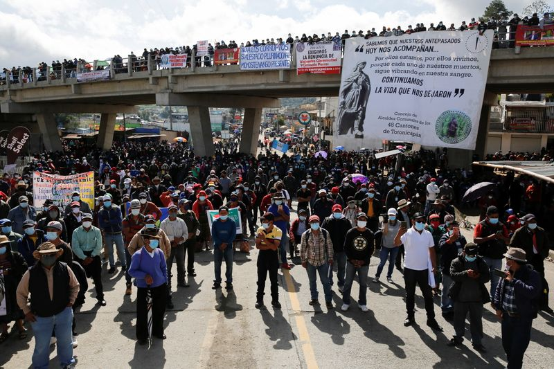 Thousands protest in Guatemala demanding president's resignation