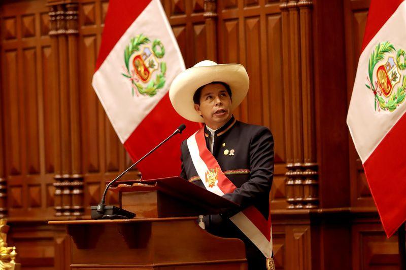Peru's Castillo names far-left PM; no finance minister in cabinet