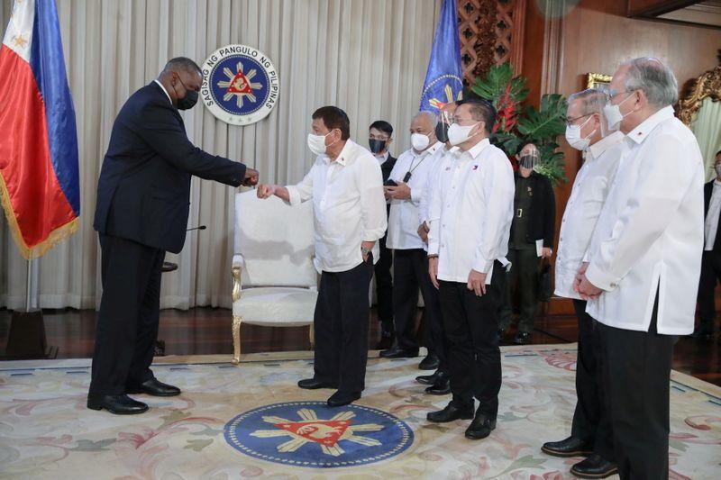 Philippines' Duterte fully restores key U.S. troop pact